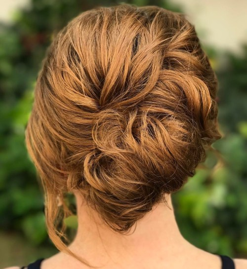 French Twist For Short Curly Hair