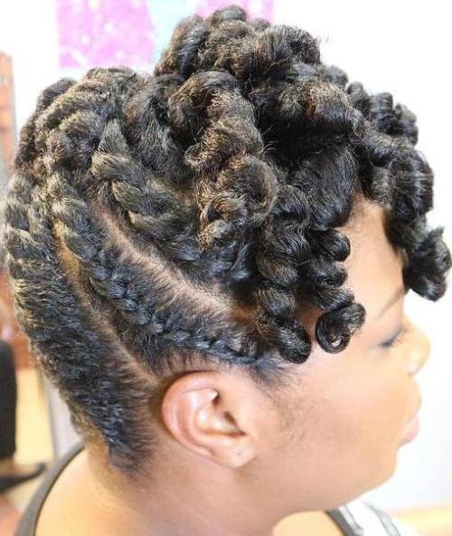Twisted Updo For Shorter Natural Hair