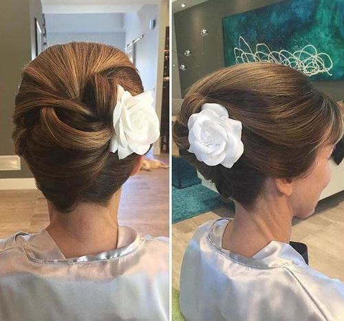 french twist formal updo for shorter hair