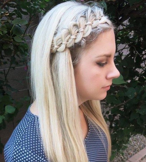 bold and beautiful braided bang