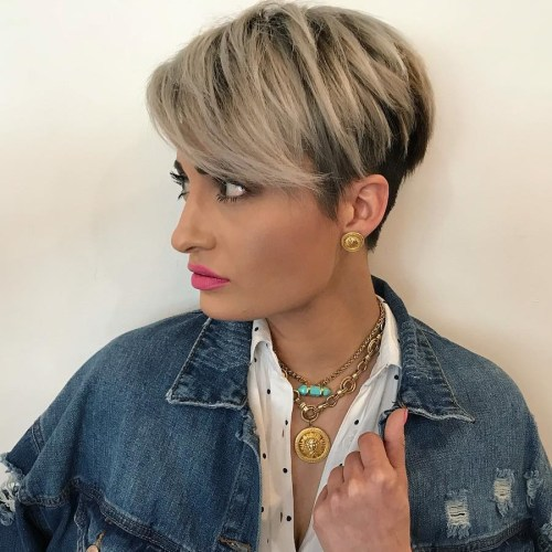 Cute Layered Inverted Pixie Bob