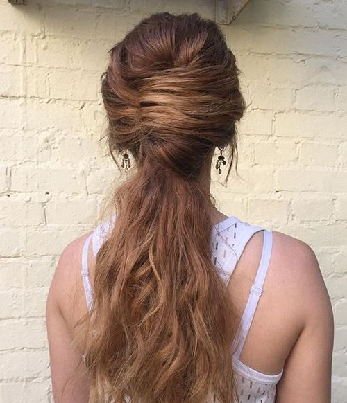 french twist with a long pony