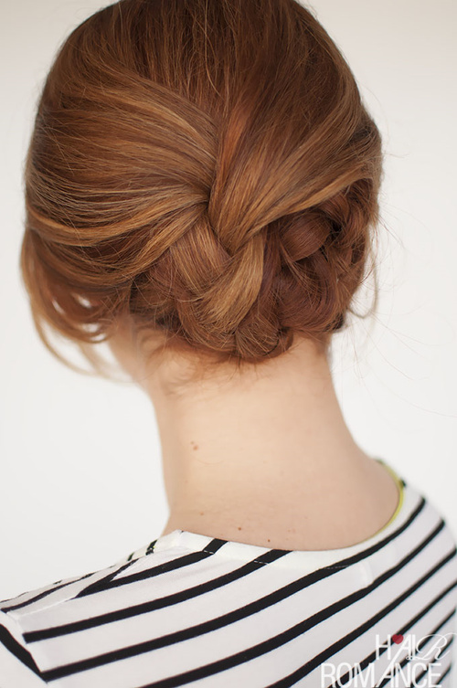 cute low knot updo for special occasions