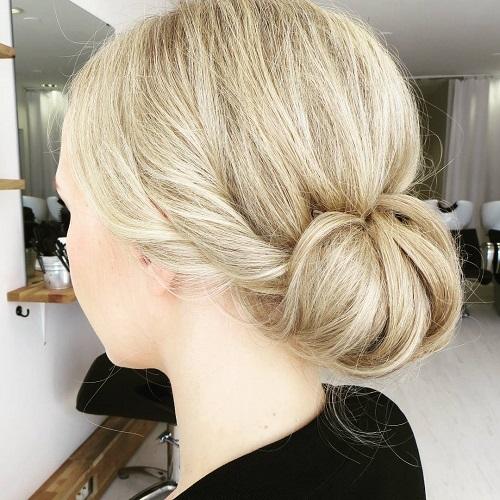 Blonde Chignon Updo