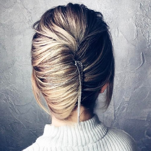 French Twist Updo With A Hair Piece
