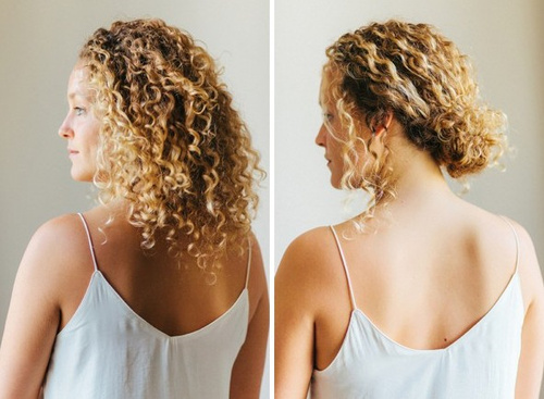 40 creative updos for curly hair casual curly updo solutioingenieria Gallery