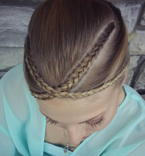 Braided Bangs Hairstyle