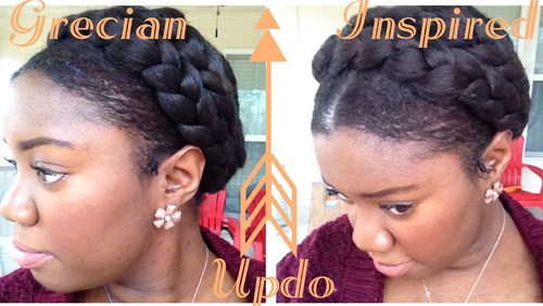beautiful black braided updo