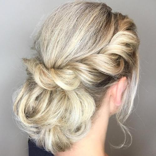 twisted crown low bun
