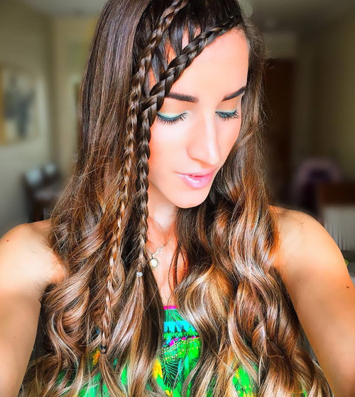 Two Side Braids Hairstyle For Long Hair