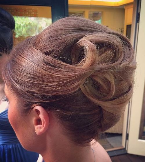 formal french twist updo