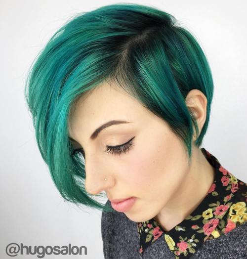 Green Pixie Bob Hairstyle