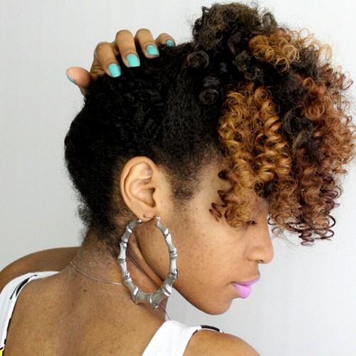 simple updo for medium black hair