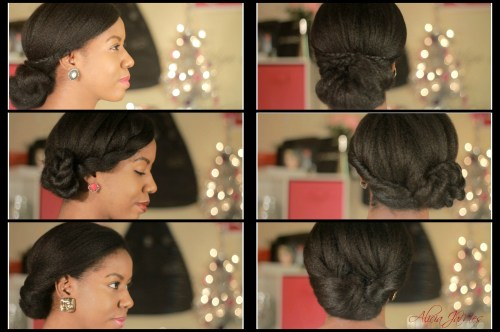 beautiful low updos for black women