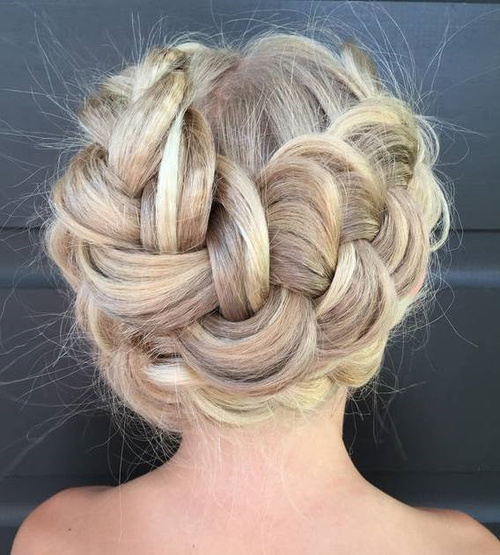 Chunky Messy Crown Braid