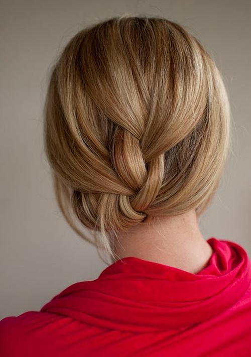 simple elegant braided updo