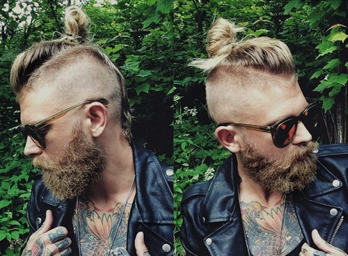 men's Mohawk for long hair
