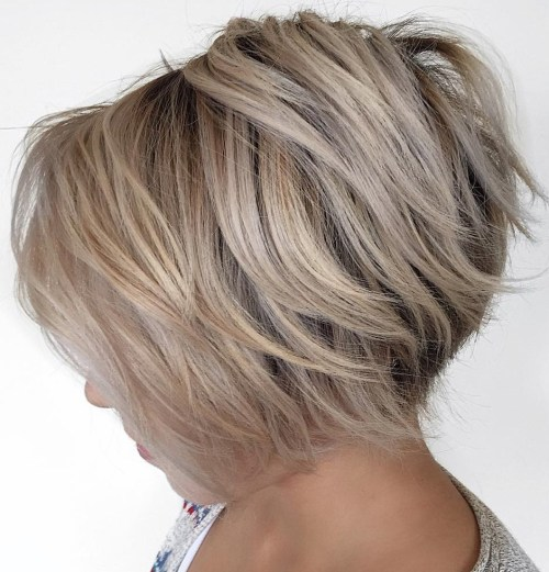Short Inverted Blonde Bob