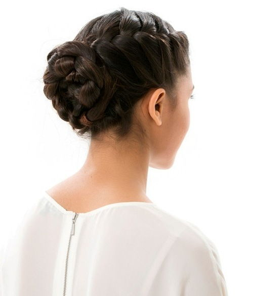 30 elegant french braid hairstyles formal french braided bun updo ccuart Images