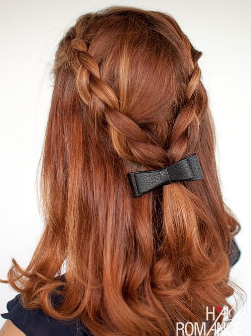 half up half down two braids hairstyle