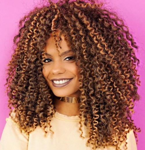 Layered Natural Curly Haircut