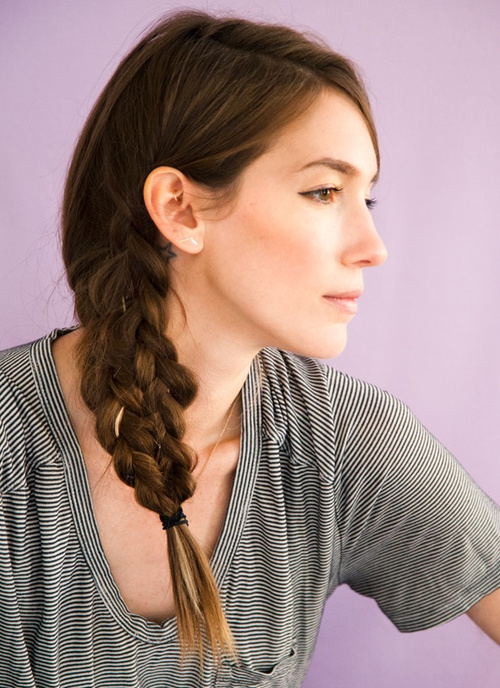 tresse longs laterale elegantes coiffures cheveux