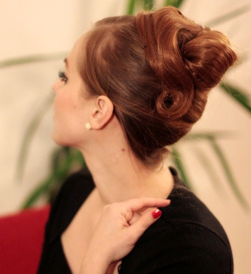 vintage updo for long hair