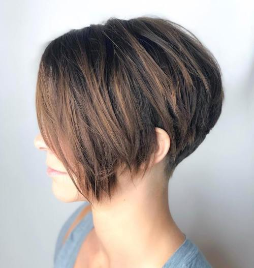 Short Choppy Tapered Pixie With Bangs