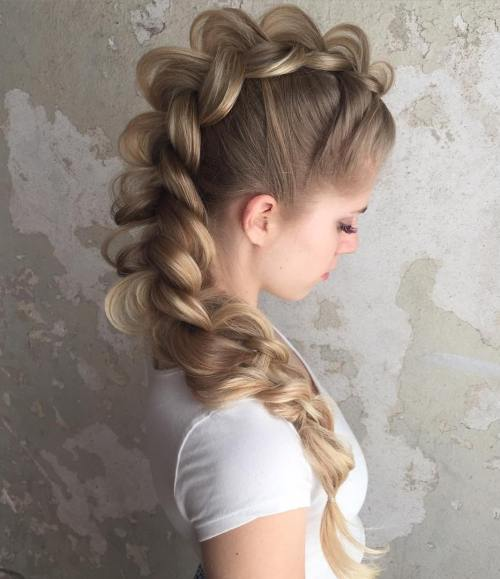Dutch Braid Mohawk