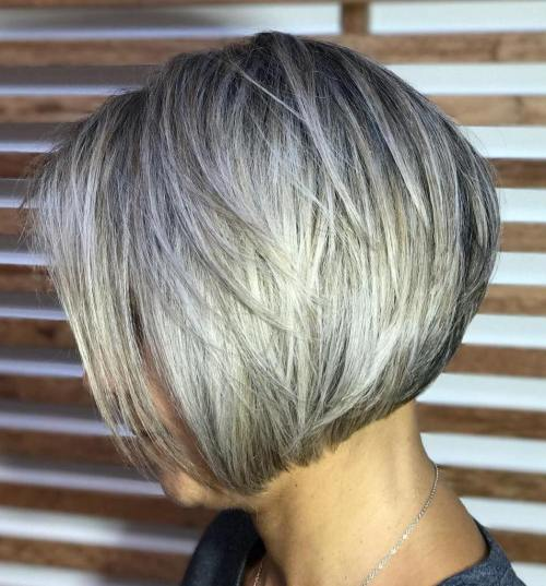 Chin-Length Layered Bob Hairstyle