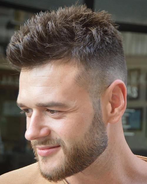 Half Shaved Men's Spiky Haircut