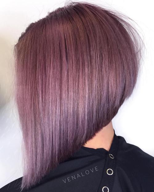 40 Chic Angled Bob Haircuts - Balayage Hairstyle