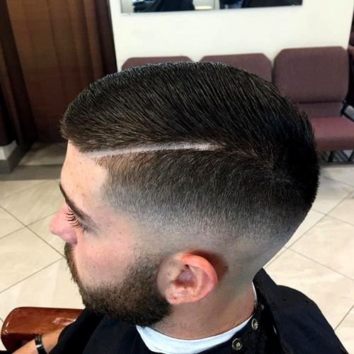 fade with a shaved part