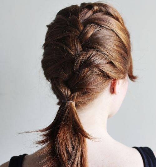 French braid hairstyle for medium hair