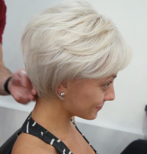 Short Haircut With Feathered Layers