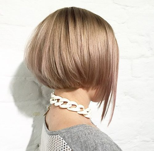 layered short bob with elongated front piece