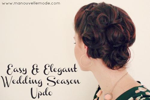 elegant vintage updo