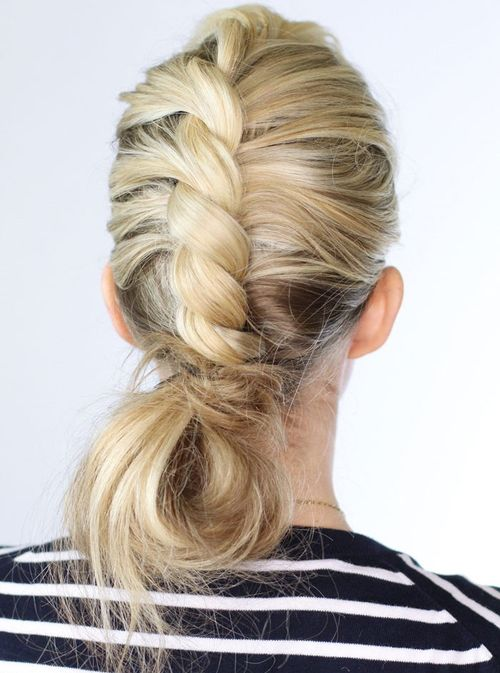 twisted messy updo for long hair