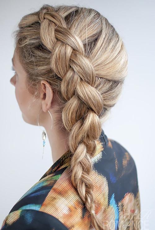 side Dutch braid hairstyle