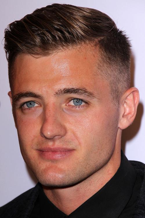 short side-parted men's haircut