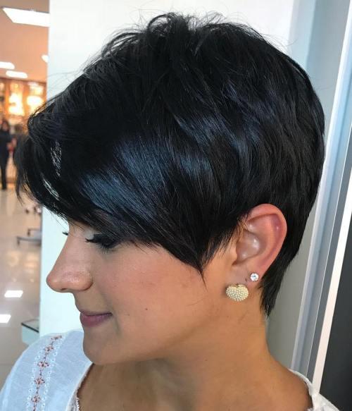 Black Choppy Pixie Hairstyle