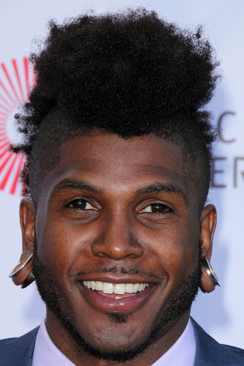 black men's mohawk hairstyle