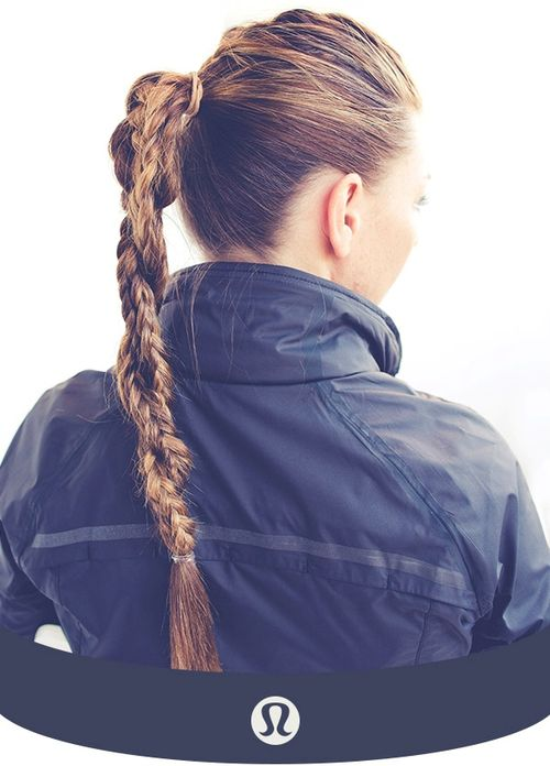 Braided pony hairstyle