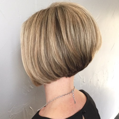 Short Stacked Bob For Thick Hair