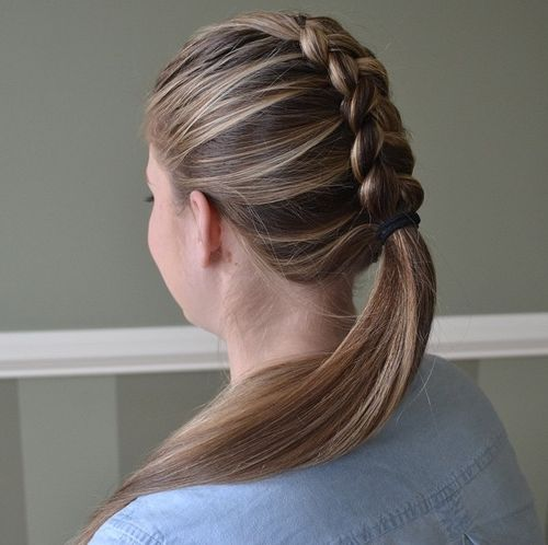 Fantastic Braided Ponytail Hairstyles 40 Cute Ponytails With Braids Short Hairstyles For Black Women Fulllsitofus