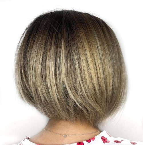 Angled Rounded Bob Cut