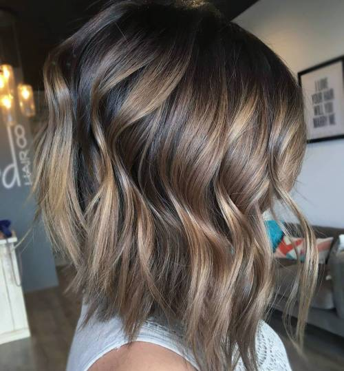 Ash Brown Balayage Lob