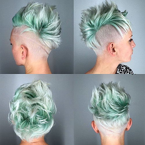 short mohawk hairstyle