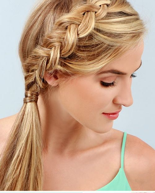Pleasant Braided Ponytail Hairstyles 40 Cute Ponytails With Braids Short Hairstyles Gunalazisus