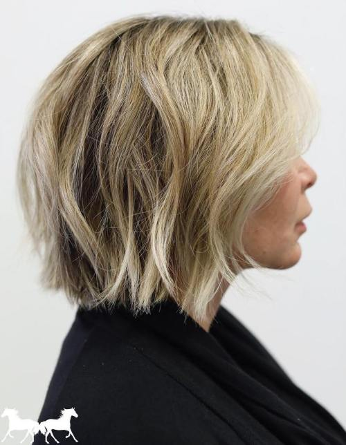 Tousled Choppy Blonde Bob